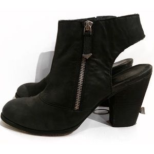 Aldo Leather Cut Out Ankle Booties